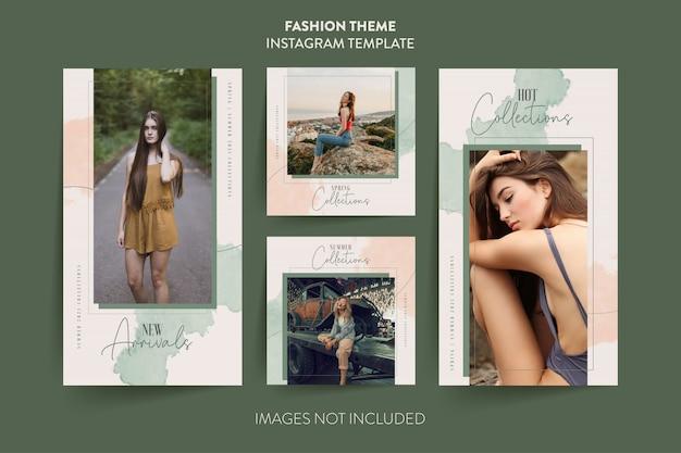 Modelo de histórias do instagram de moda mulher