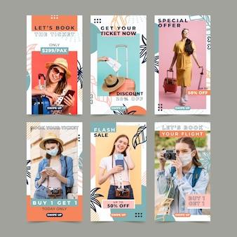 Modelo de histórias do instagram para agências de viagens