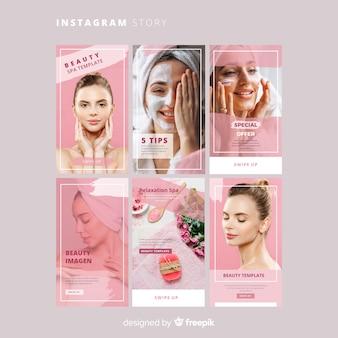 Modelo de histórias do instagram spa