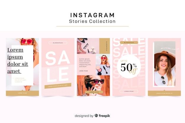 Modelo de histórias do instagram