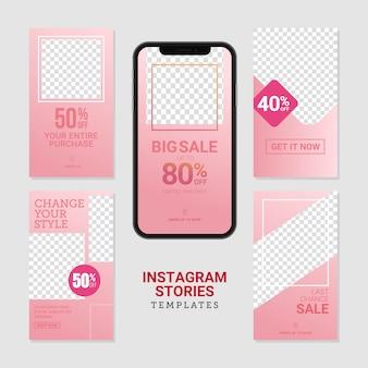 Modelo de histórias editáveis do instagram