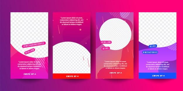 Modelo de histórias para mídia social. design de capa de história editável para histórias