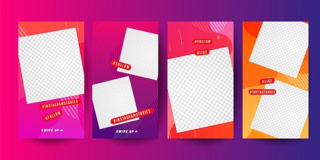 Modelo de histórias para mídias sociais. design de capa de história editável para fotos.