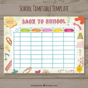 Modelo de horário escolar