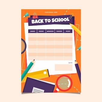Modelo de horário para volta às aulas