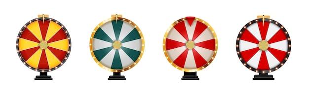 Modelo de ícone da sorte da roda da fortuna isolado