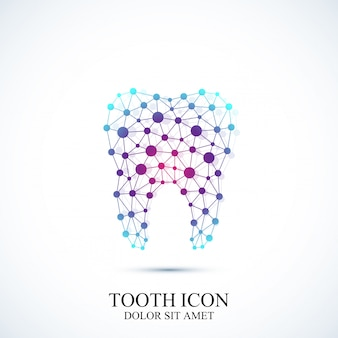 Modelo de ícone de dente. projeto médico