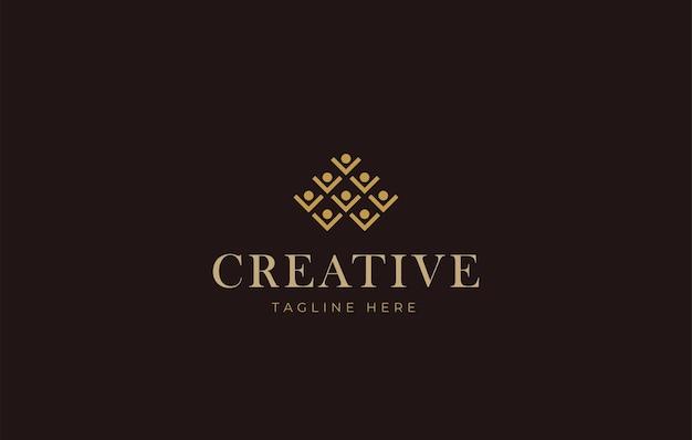 Modelo de ícone de design de logotipo de barra de suporte para garrafa de vinho