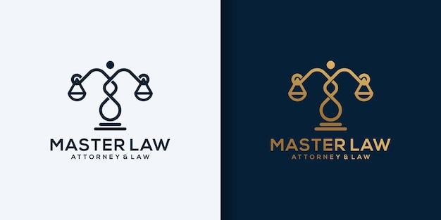 Modelo de ícone de design de logotipo de lei abstrata moderna criativa