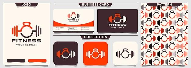 Modelo de ícone de logotipo de musculação esporte fitness