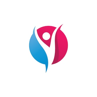 Modelo de ícone de logotipo para pessoas de sucesso