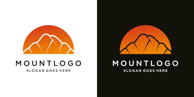 Modelo de ícone de luxo moderno design de logotipo de montanha