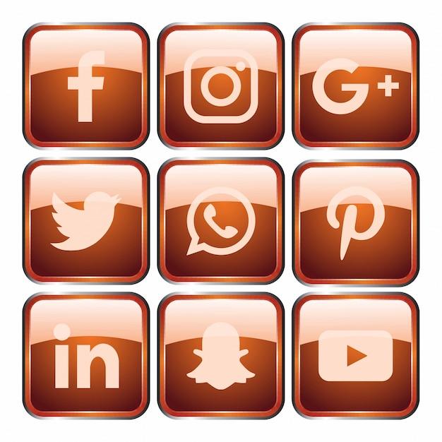 Modelo de ícone de mídia social.