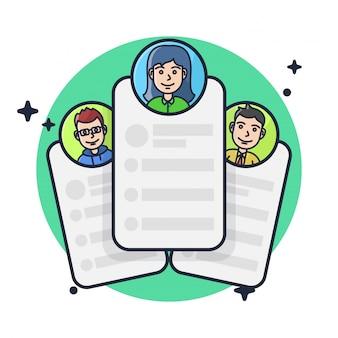 Modelo de ícone de seleção de recrutamento