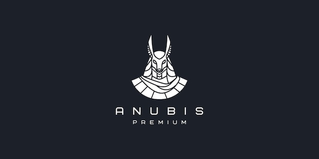 Modelo de ícone de vetor de logotipo simples anubis