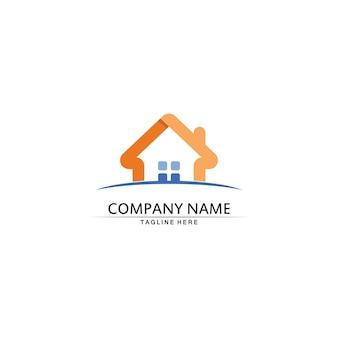 Modelo de ícones de logotipo de vetor de imóveis e edifícios residenciais