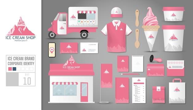 Modelo de identidade corporativa para sorveteria