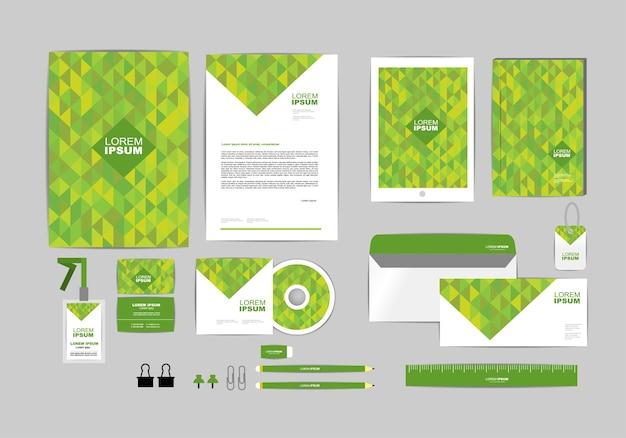 Modelo de identidade corporativa verde para o seu negócio