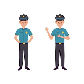 Modelo de ilustração de design de ícone de vetor de polícia