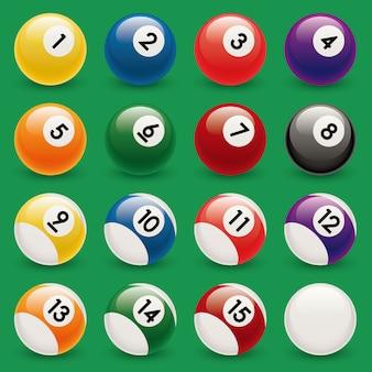 Modelo de ilustração de design de vetor bola illiard