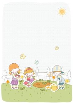 Modelo de ilustração de design de vetor de clipart de crianças