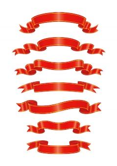 Modelo de ilustração de design de vetor de título de fita