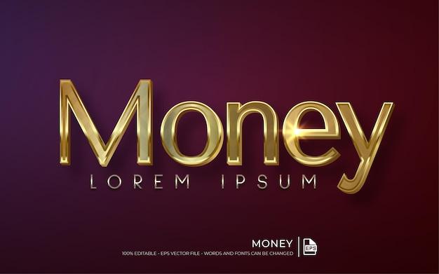Modelo de ilustração de estilo de dinheiro