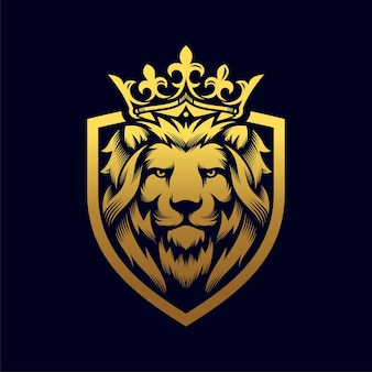 Modelo de ilustração de leão