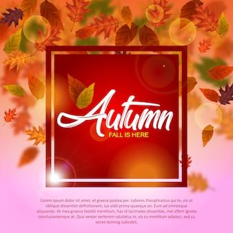 Modelo de ilustração de outono
