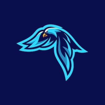 Modelo de ilustração vetorial águia esportes torneio