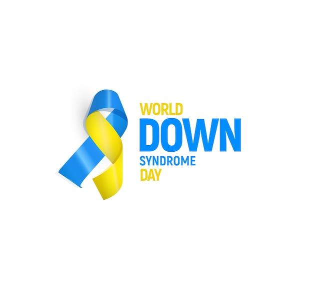 Modelo de ilustração vetorial para o dia mundial da síndrome de down