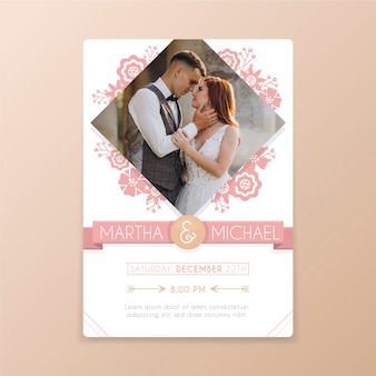 Modelo de imagem de convite de casamento