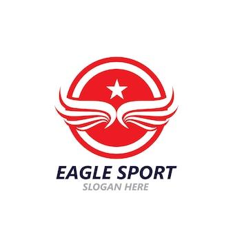 Modelo de imagem vetorial de design de logotipo de asa de águia