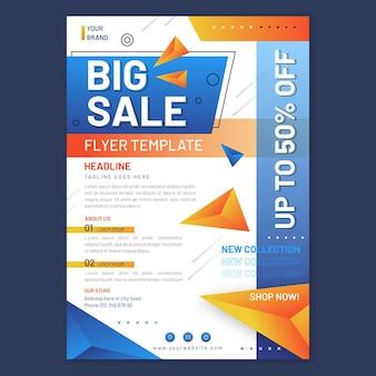 Modelo de impressão abstrato de vendas
