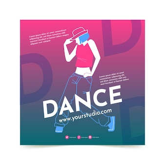 Modelo de impressão de aulas de dança
