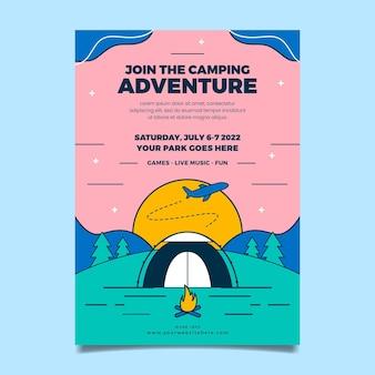 Modelo de impressão de aventura plana linear