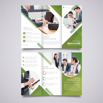 Modelo de impressão de brochura empresarial com três dobras