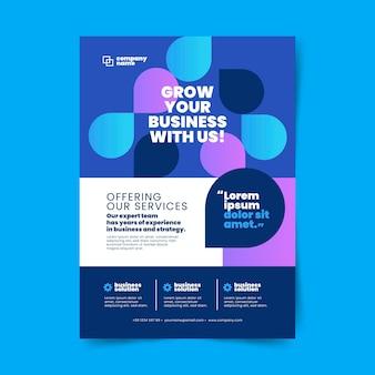 Modelo de impressão de negócios abstratos com formas gradientes