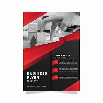 Modelo de impressão de panfleto comercial