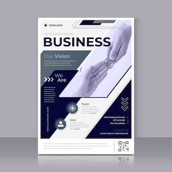 Modelo de impressão de panfleto empresarial moderno