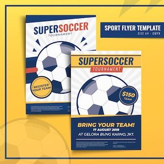 Modelo de impressão de panfleto ou cartaz de esporte