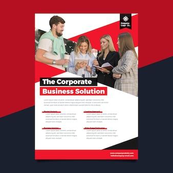 Modelo de impressão de pôster de negócios corporativos