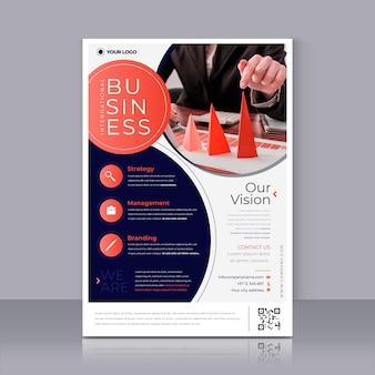 Modelo de impressão de pôster de visão empresarial