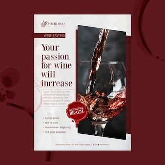 Modelo de impressão de pôster do melhor evento de degustação de vinhos