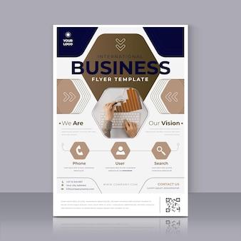 Modelo de impressão de pôster empresarial moderno