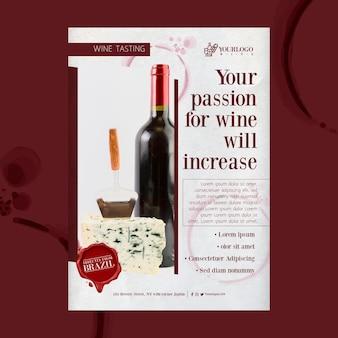 Modelo de impressão do folheto do melhor evento de degustação de vinhos
