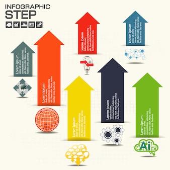 Modelo de infografia com opções