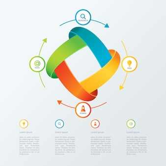 Modelo de infografia de negócios modernos limpos