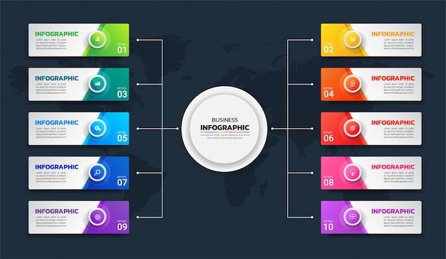 Modelo de infografia de negócios