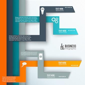 Modelo de infografia de trabalho em equipe